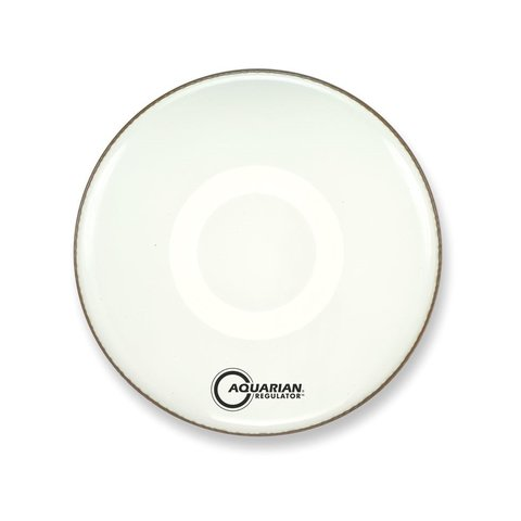 "Aquarian Front 18"" Bass Drumhead with Ring - White"