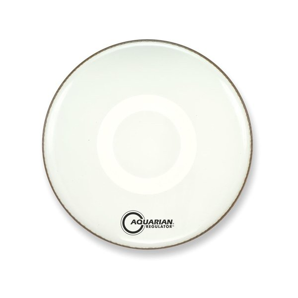 "Aquarian Aquarian Front 18"" Bass Drumhead with Ring - White"