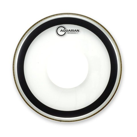 "Aquarian 12"" (2-Ply) Drumhead with Power Dot and Glue"