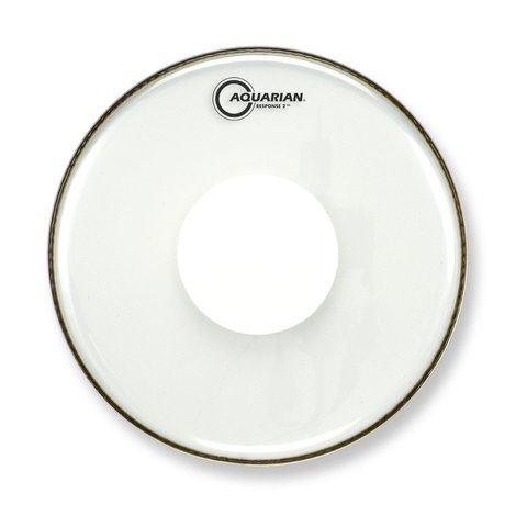 "Aquarian Response 2 Series 15"" (2-Ply) Drumhead with Power Dot - No Glue"