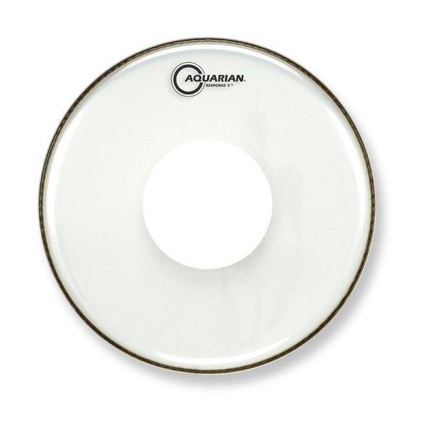 "Aquarian Aquarian Response 2 Series 15"" (2-Ply) Drumhead with Power Dot - No Glue"