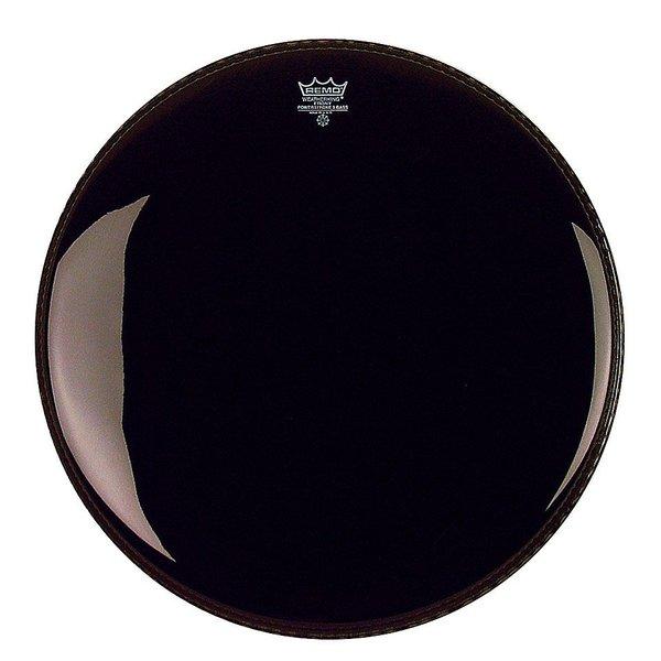 "Remo Remo Ebony Powerstroke 3 18"" Diameter Bass Drumhead with 5"" Black Dynamo"