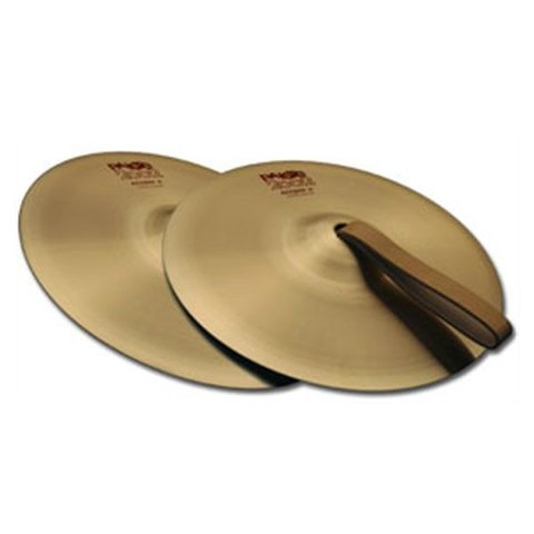 "Paiste 2002 Classic 06"" Accent Cymbal Pair With Leather Strap"