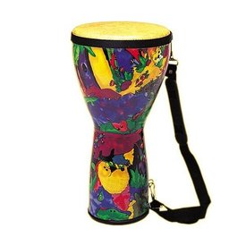 Remo Remo Kids Percussion Pre-Tuned 8 Diameter 14 Height Djembe - Rain Forest Fabric
