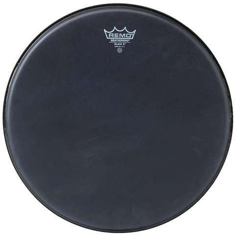 "Remo Black x 13"" Diameter Batter Drumhead - Black Dot Bottom"