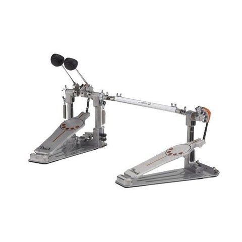 Pearl Demonator Series Single-Chain Drive Double Bass Drum Pedal with Demon Style Long Footboard - Lefty