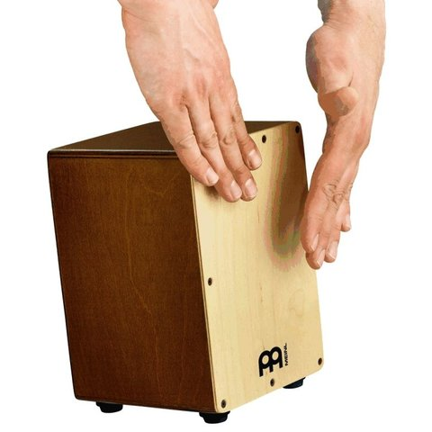 "Meinl Mini Cajon 5 3/4x8 3/4x5 3/4"" ; Natural Frontplate With Almond Birch Body"