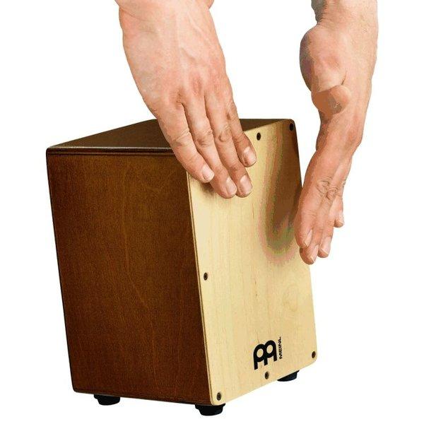 "Meinl Meinl Mini Cajon 5 3/4x8 3/4x5 3/4"" ; Natural Frontplate With Almond Birch Body"