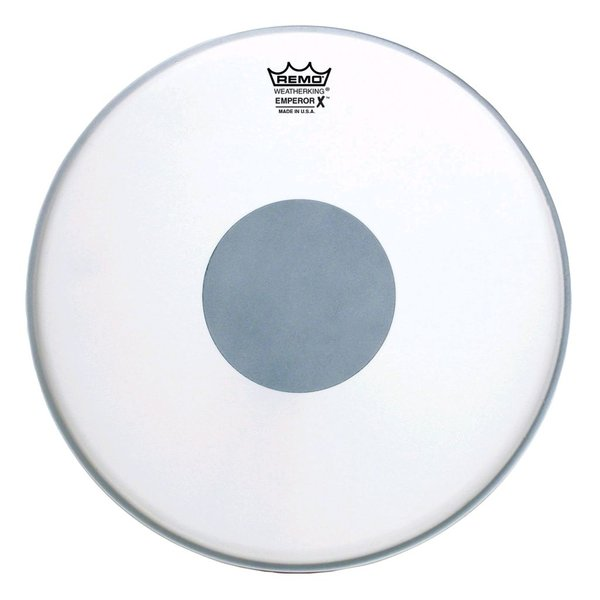 "Remo Remo Coated Emperor x 12"" Diameter Batter Drumhead - Black Dot Bottom"