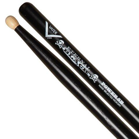 Vater Eternal Black Power 5B Wood Tip Drumsticks