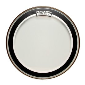 "Aquarian Aquarian Super-Kick Series Clear 20"" (1-Ply) Drumhead"