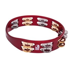 Toca Toca 10 Colorsound Tambourine, Red
