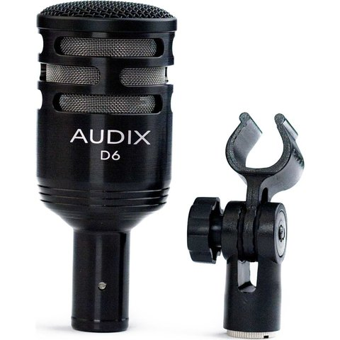 Audix D6 Dynamic Instrument Microphone; Includes Pouch And Clip