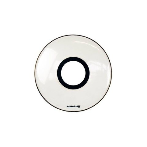 "Aquarian Ported 22"" Bass Drumhead - White"