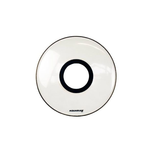 "Aquarian Aquarian Ported 22"" Bass Drumhead - White"