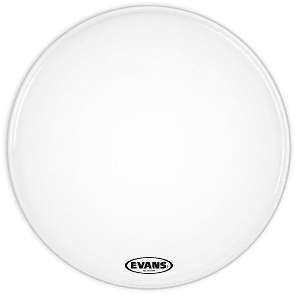 """Evans Evans EQ3 Resonant Smooth White 20"""" No Port Bass Drumhead"""