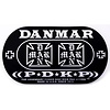 Danmar Double Kick Bass Drum Impact Pad- Iron Cross Graphic