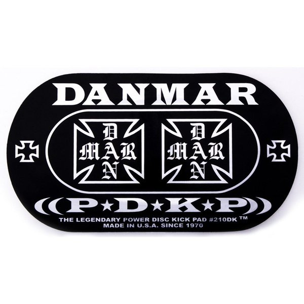 Danmar Danmar Double Kick Bass Drum Impact Pad- Iron Cross Graphic