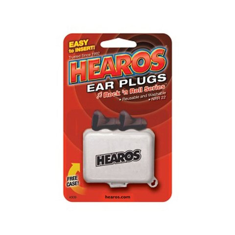 Hearos Rock'n'Roll Ear Plugs; 1 Pair; Includes Case