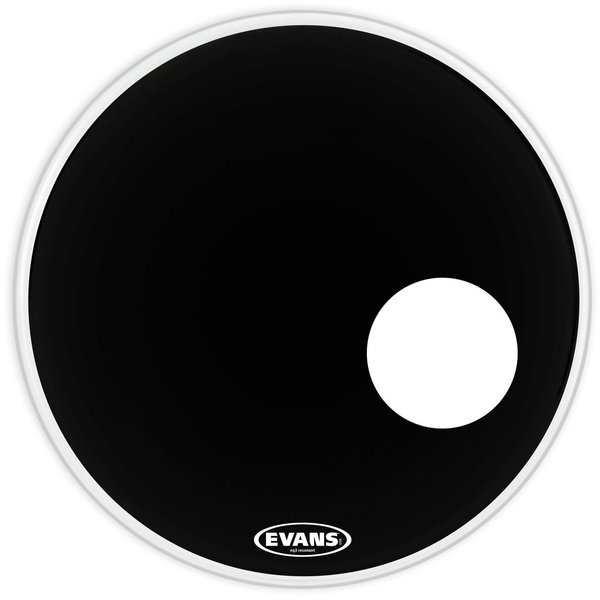 "Evans Evans EQ3 Resonant Black 22"" Bass Drumhead"