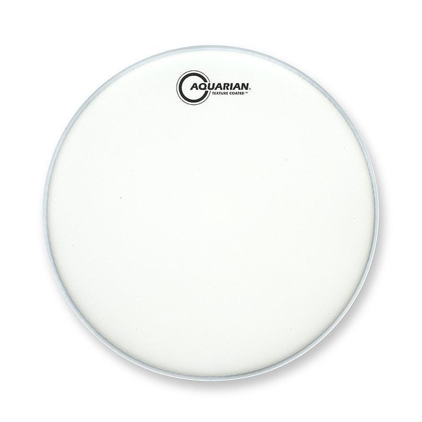 "Aquarian Aquarian Force I Series Texture Coated 16"" Bass Drumhead Satin Finish - White"