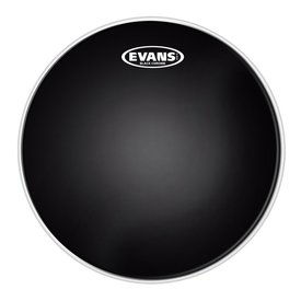 "Evans Evans Black Chrome 12"" Batter Tom Drumhead"