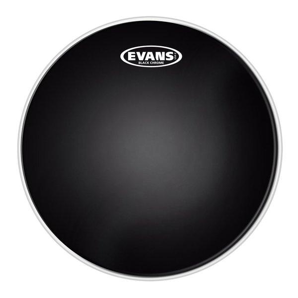 "Evans Evans Black Chrome 12"" Batter Tom Drumhead"