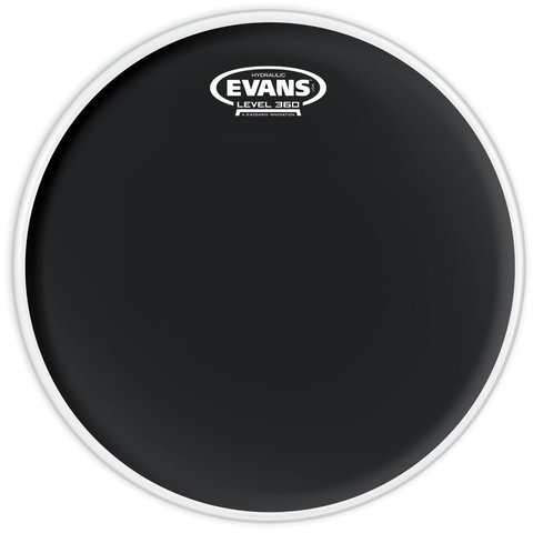 "Evans Hydraulic Black 12"" Tom Drumhead"