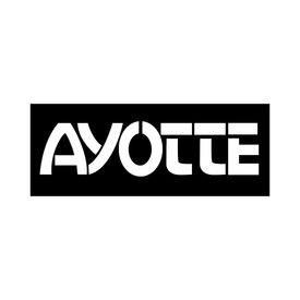Ayotte Ayotte White Bass Drum Logo