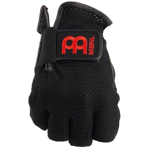 Drummer Gloves, finger-less, black, large, pair