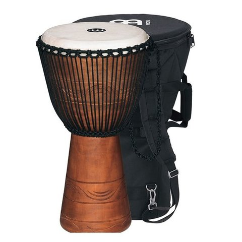 Meinl African Style Rope Tuned Djembe 13 Extra Large + Bag Water Series