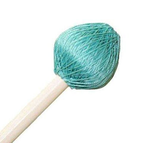 "Mike Balter 125B Super Vibe Series 15 1/2"" Medium Soft Aqua Polyester Vibe Mallets with Birch Handles"