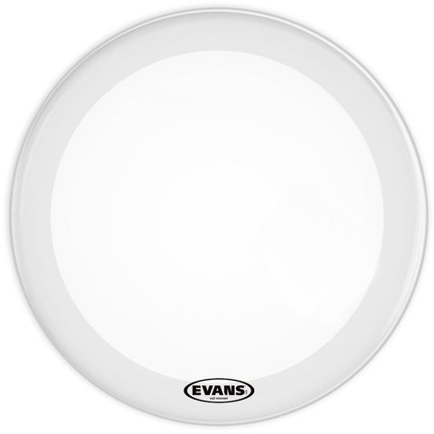 "Evans EQ3 16"" Smooth White Resonant Bass Drumhead; No Port"