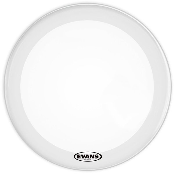 "Evans Evans EQ3 16"" Smooth White Resonant Bass Drumhead; No Port"
