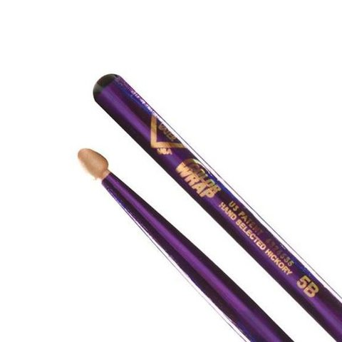 Vater Color Wrap 5B Purple Optic Wood Tip Drumsticks