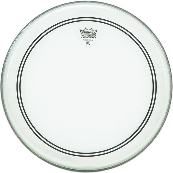 "Remo Remo Clear Powerstroke 3 18"" Diameter Batter Drumhead"