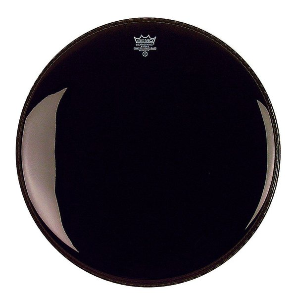 "Remo Remo Ebony Powerstroke 3 22"" Diameter Bass Drumhead with 5"" Black Dynamo"