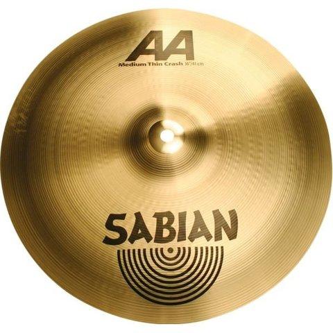"""Sabian AA 16"""" Medium-Thin Crash Cymbal"""