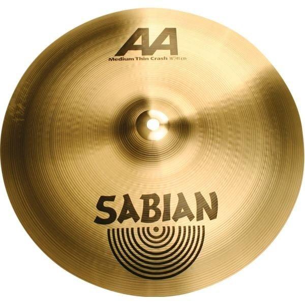 """Sabian Sabian AA 16"""" Medium-Thin Crash Cymbal"""