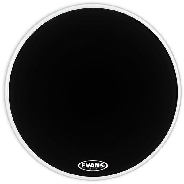 """Evans Evans EQ3 Resonant Black 22"""" No Port Bass Drumhead"""