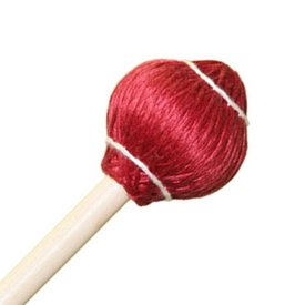 "Mike Balter Mike Balter 24R Pro Vibe Series 15 1/2"" Soft Red Cord Marimba/Vibe Mallets with Rattan Handles"