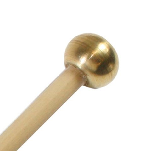 "Mike Balter 109R Gradioso Series 14 1/8"" Hard Oval Brass Bell/Bell Tree Mallets with Rattan Handles"