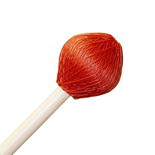 "Mike Balter Mike Balter 124R Super Vibe Series 15 1/2"" Medium Red Polyester Vibe Mallets with Rattan Handles"