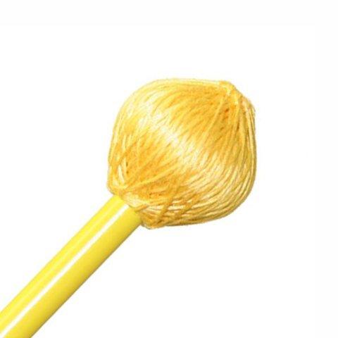 "Mike Balter BB4 Balter Basics 15 3/8"" Hard Yellow Cord Marimba/Vibe Mallets with Yellow Birch Handles"