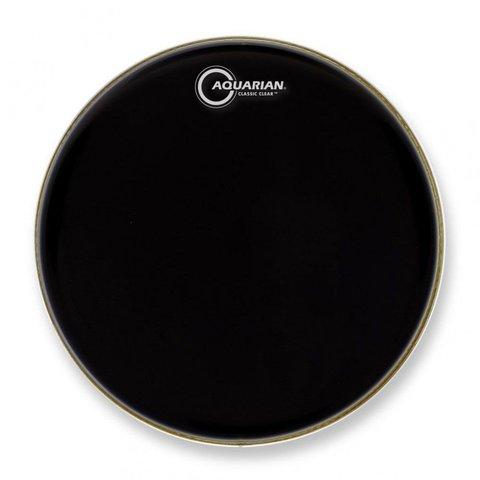 """Aquarian Classic Clear Series 12"""" Drumhead - Black"""
