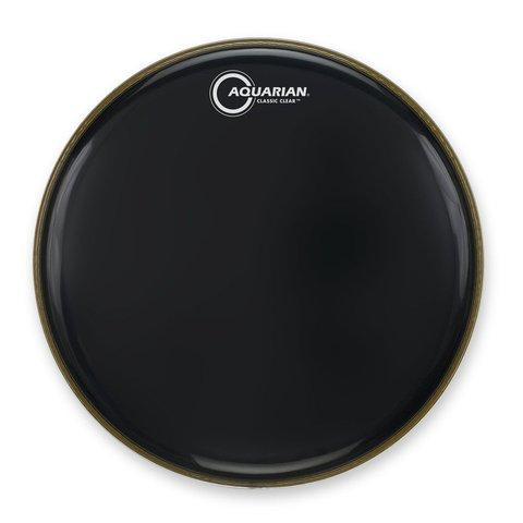 """Aquarian Classic Clear Series 18"""" Bass Drumhead - Black"""