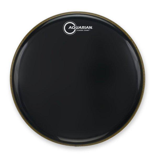 """Aquarian Aquarian Classic Clear Series 18"""" Bass Drumhead - Black"""