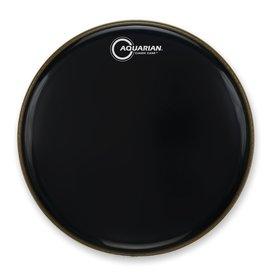 """Aquarian Aquarian Classic Clear Series 16"""" Bass Drumhead - Black"""