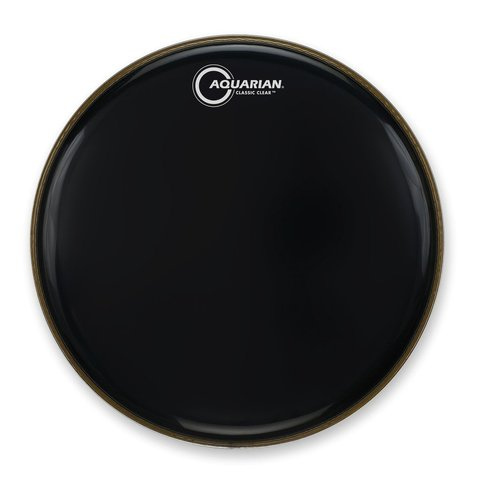 "Aquarian Classic Clear Series 16"" Bass Drumhead - Black"