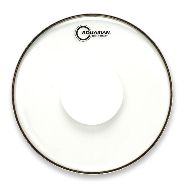 "Aquarian Aquarian Classic Clear Series 12"" Drumhead with Power Dot"